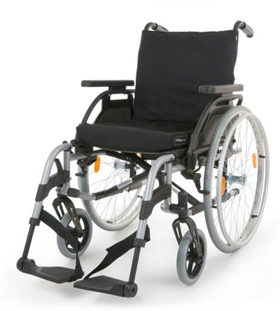 Breezy Elegance Silver Lightweight Wheelchair