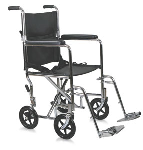 Transport Wheelchair Steel - 17in